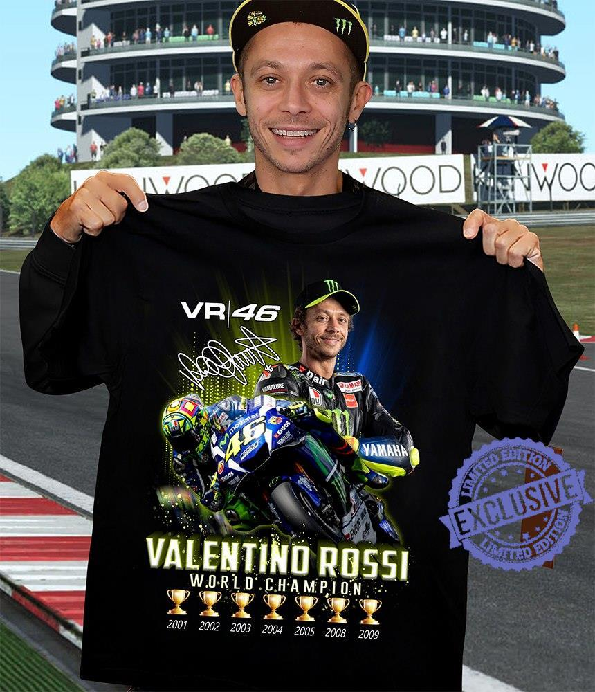 Vr 46 valentino rossi world champion shirt