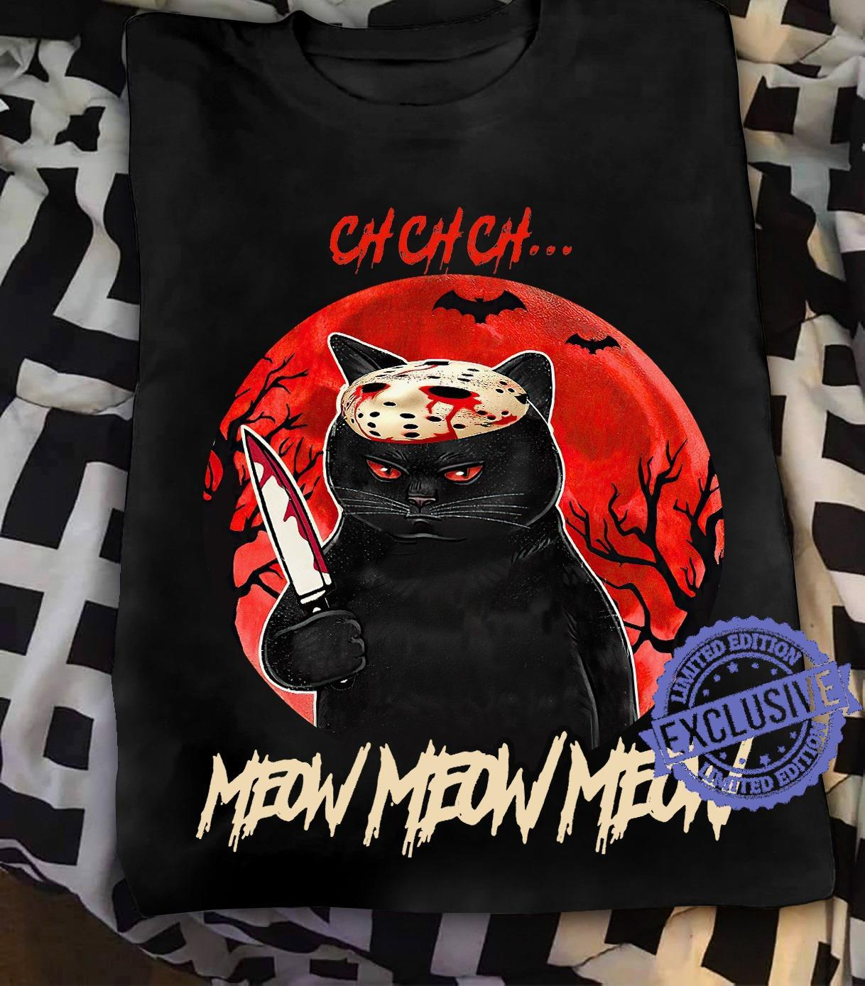 Cat Voorhees meow meow meow shirt