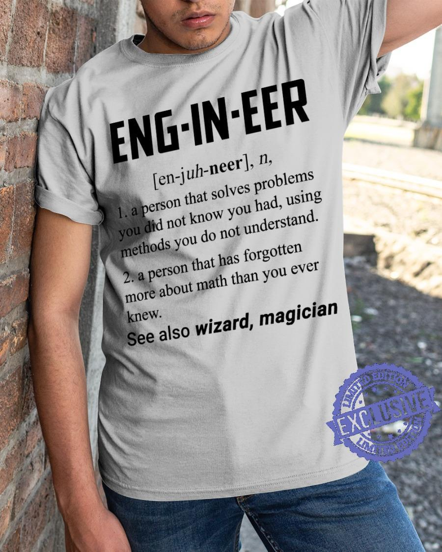 Engineer see also wizard magician shirt