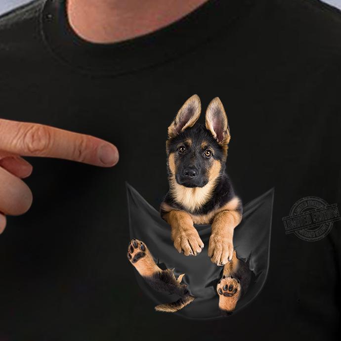 German Dog In Pocket Shirt