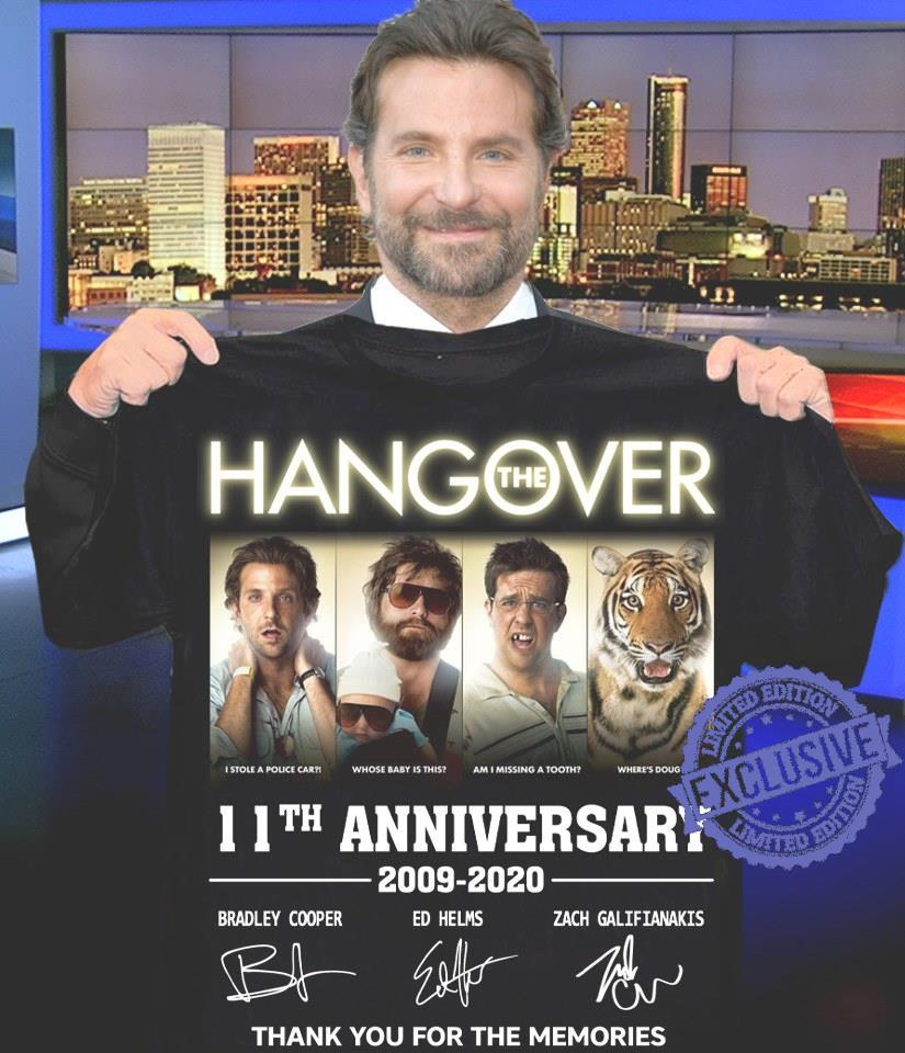 Hangover 11th anniversary 2009 2020 thank you for the memories shirt