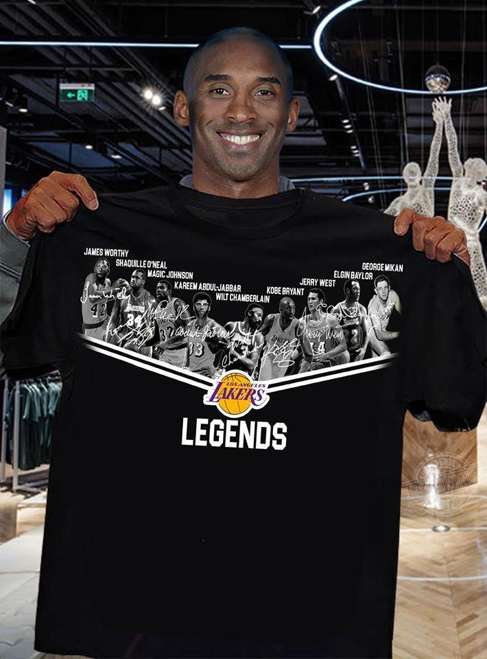 Los Angeles Lakers Legends Players Signatures Shirt