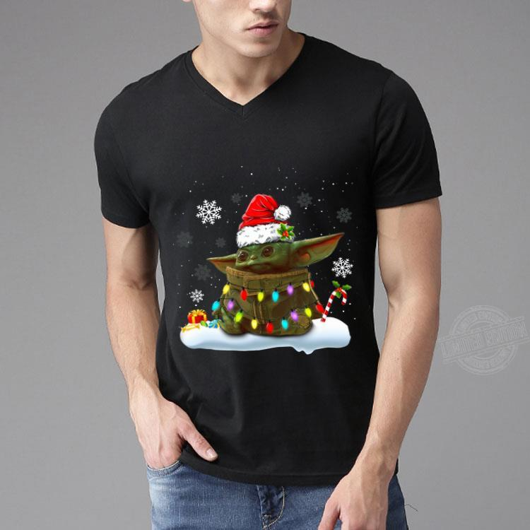 Santa Baby Yoda Christmas Light Shirt