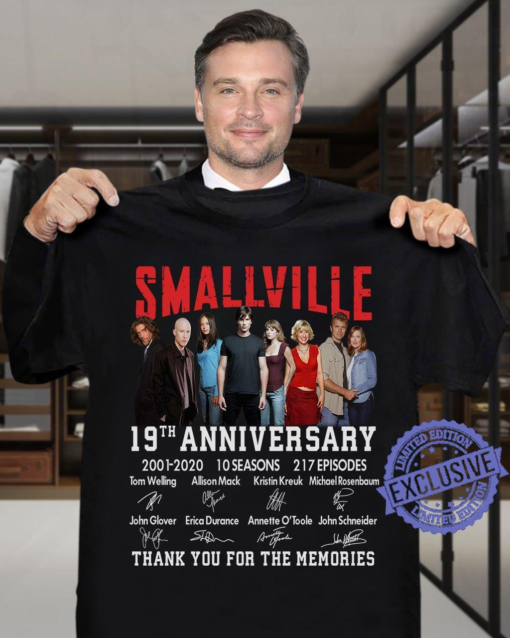 Smallville 19th anniversary 2001 2020 10 seasons 217 episodes thank you for the memories shirt
